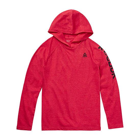Reebok Spring Boys Hooded Neck Short Sleeve Graphic T-Shirt - Big Kid