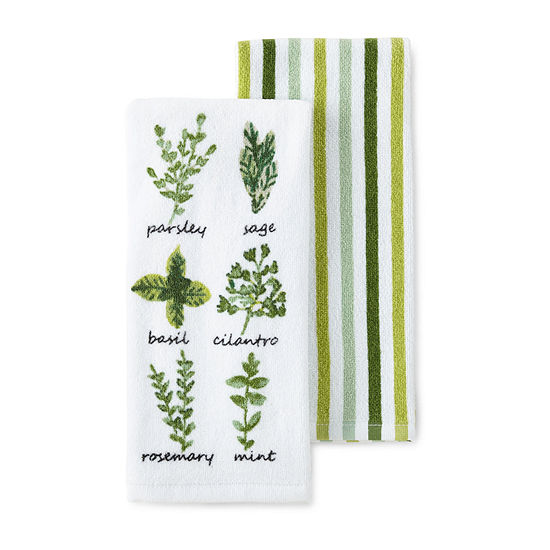 JCPenney Home 2-Pc. Herb 2-pc. Kitchen Towel