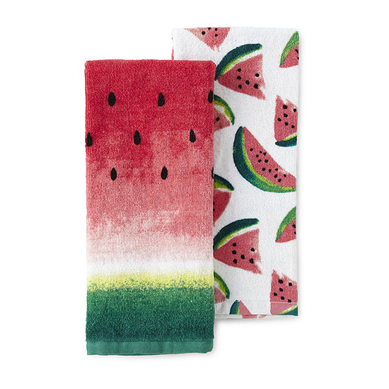 JCPenney Home 2-Pc. Watermelon 2-pc. Kitchen Towel