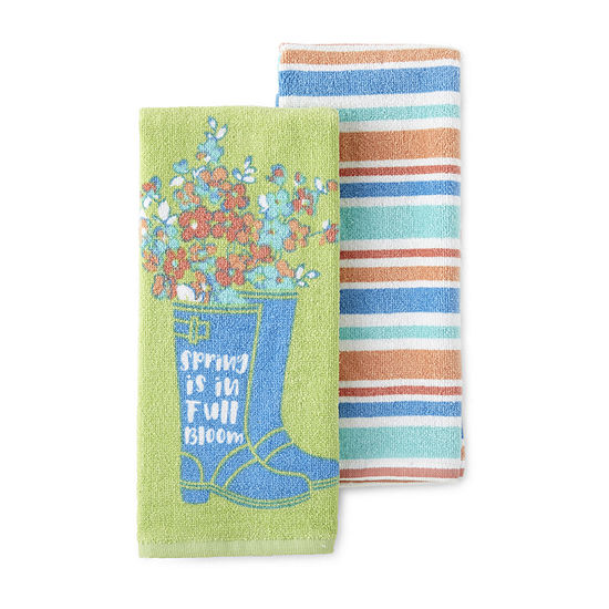 JCPenney Home 2-Pc. Floral Boots 2-pc. Kitchen Towel