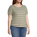 a.n.a-Plus Womens Dolman Relaxed T-Shirt
