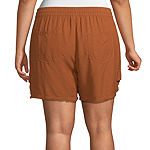 a.n.a-Plus Womens Utility Tie Waist Pull-On Short