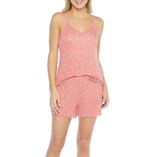 Ambrielle Womens Shorts Pajama Set 2-pc. Sleeveless