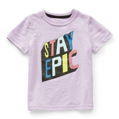 Okie Dokie Little Boys Crew Neck Short Sleeve Graphic T-Shirt