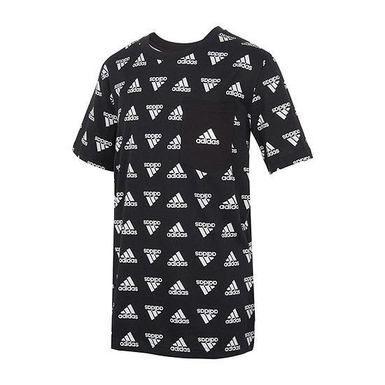 adidas Big Boys Round Neck Short Sleeve T-Shirt