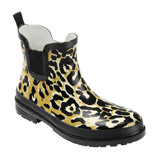 Journee Collection Womens Tekoa Rain Boots Block Heel