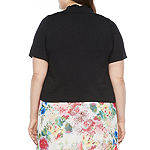 Ronni Nicole Womens Plus Short Sleeve Shrug