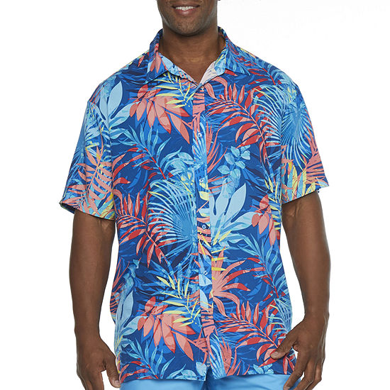 Peyton & Parker Leaf Swim Shirt Swimsuit Top Plus