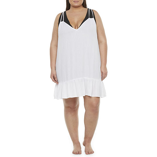 Decree Womens Dress Swimsuit Cover-Up Juniors Plus