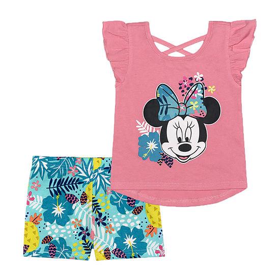 Disney Toddler Girls 2-pc. Minnie Mouse Short Set