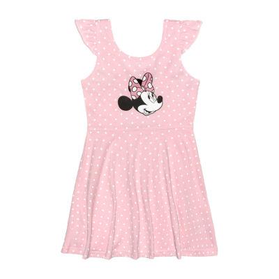 Disney Toddler Girls Short Sleeve Minnie Mouse Skater Dress