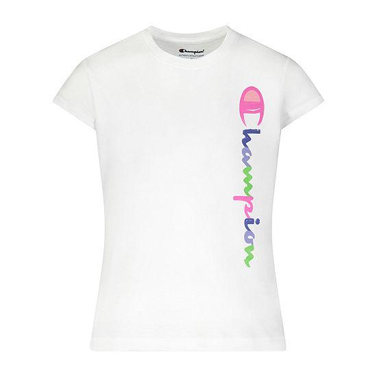 Champion Big Girls Crew Neck Short Sleeve Graphic T-Shirt