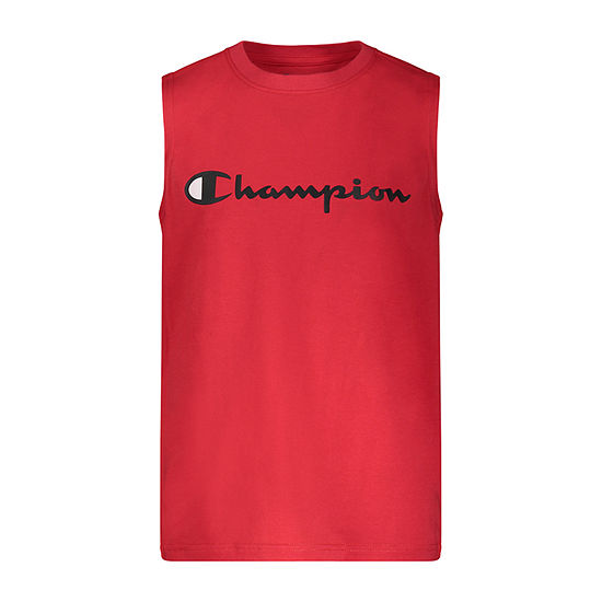 Champion Big Boys Crew Neck Sleeveless Graphic T-Shirt