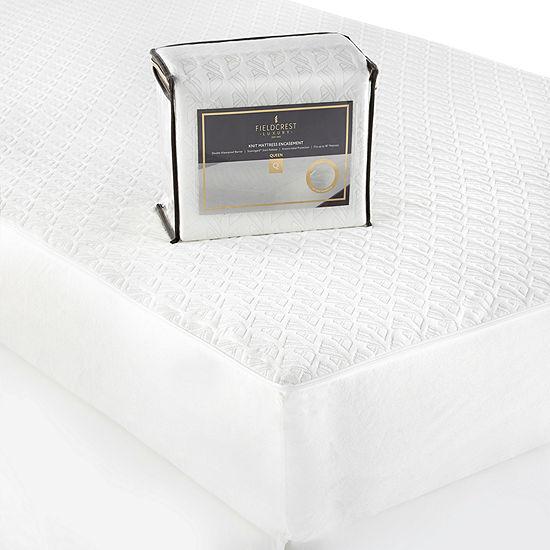 Fieldcrest Luxury Knit Waterproof Antimicrobial Mattress Encasement