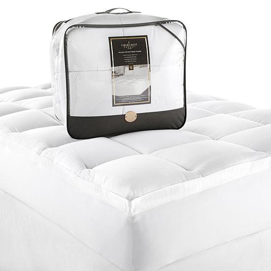 Fieldcrest Luxury Sateen Pillow Top Antimicrobial Fiberbed