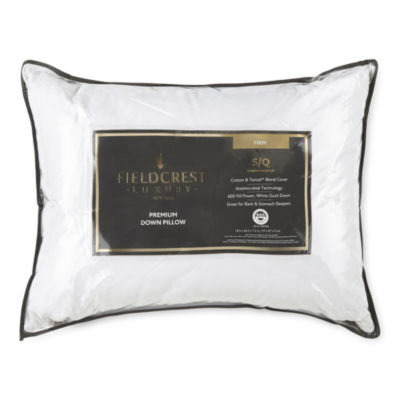 Fieldcrest Luxury Jacquard Firm Density Antimicrobial Down Pillow