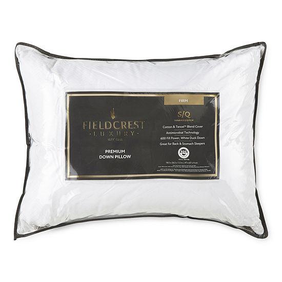 Fieldcrest Luxury Jacquard Firm Density Antimicrobial Down Pillow