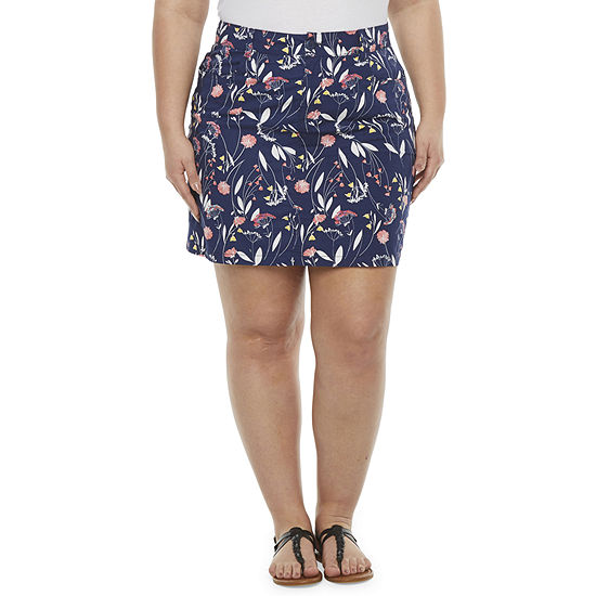 St. John's Bay Womens Mid Rise Skort-Plus