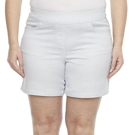 Liz Claiborne Womens Pull-On Short-Plus
