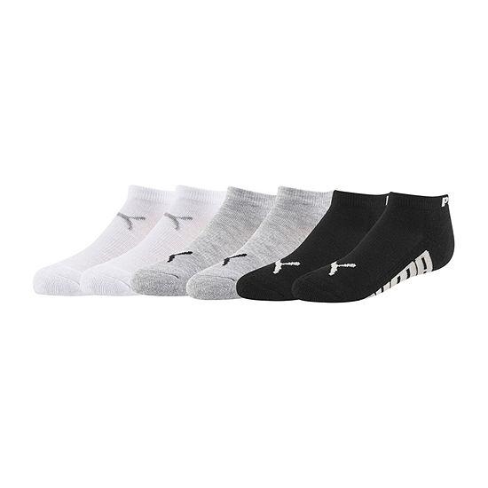 Puma Little & Big Boys 6 Pair Low Cut Socks