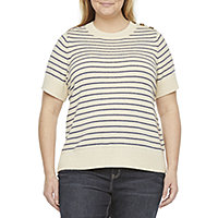 Womens Jumper Striped Crew Neck Top Ex M/&S Size 6-24  Bold Pink Navy Stripes