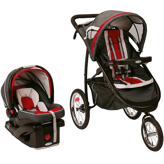 bebe772a875 Graco FastAction Fold Jogger Click Connect Travel System Chili Red JCPenney