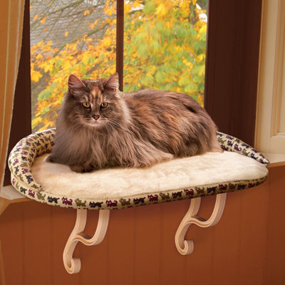 Kitty Sill Deluxe™ Cat Window Perch with Bolster