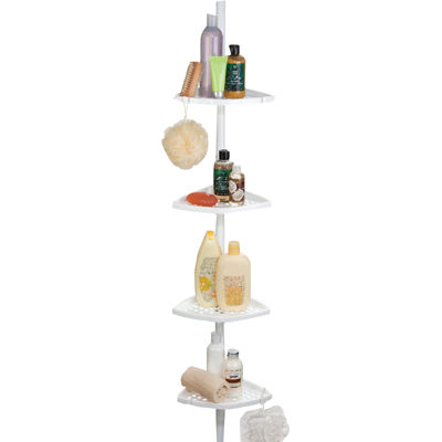 Ulti-Mate White Shower Pole Caddy