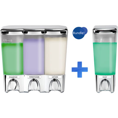 Clear Choice Chrome Single & Triple Liquid Soap Dispensers