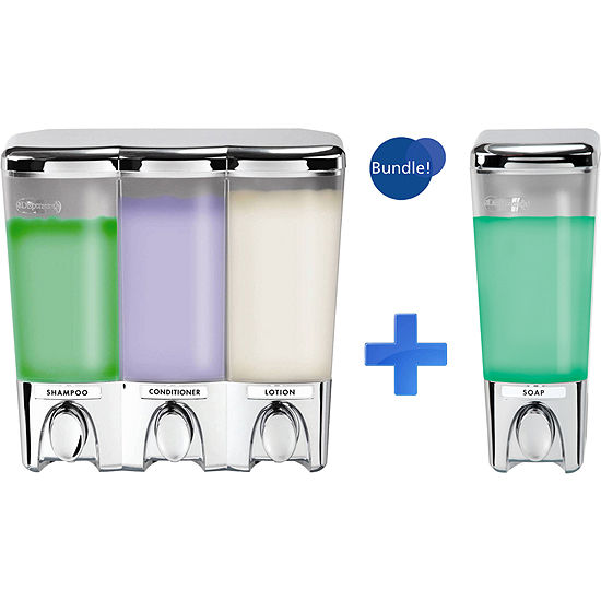 Better Living Clear Choice Chrome Dispenser 1 and 3 Bundle Chrome