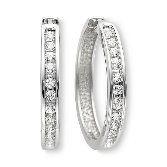1/3 CT. T.W. Diamond Hoop Earrings