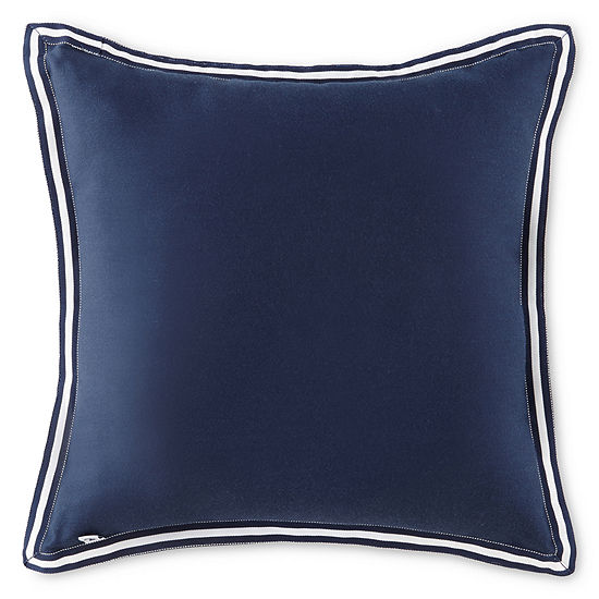 IZOD® Navy Square Decorative Pillow
