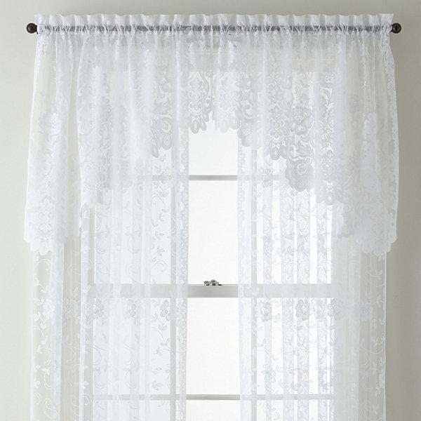 Jcp Home Shari Lace Rod Pocket Sheer Panel