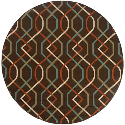 Covington Home Martinique Swizzle Indoor/Outdoor Round Rug