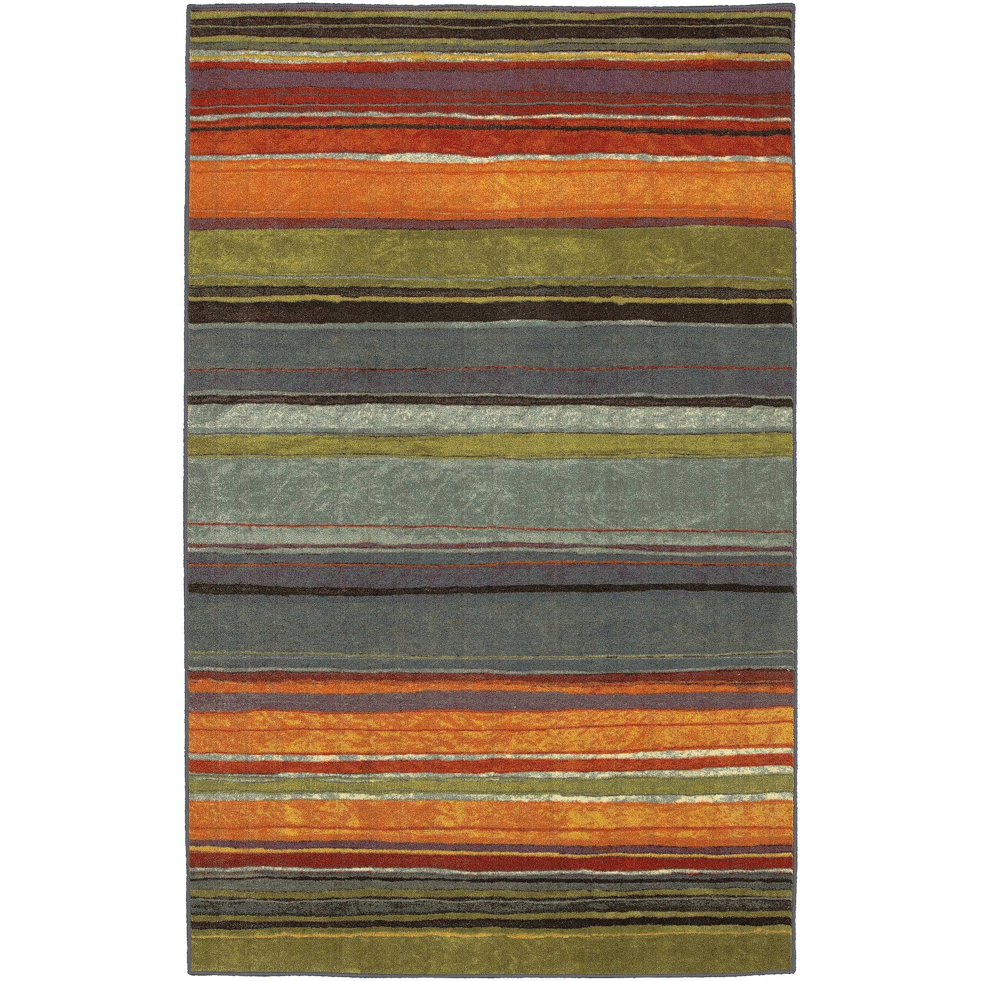 Mohawk Home Rainbow Stripe Rectangular Rug