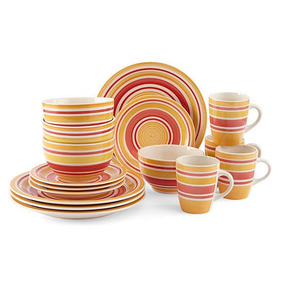 JCPenney Home™ Swirls Round 16-pc. Dinnerware Set