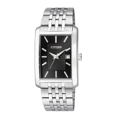 Citizen® Everyday Mens Rectangular Stainless Steel Watch BH1671-55E