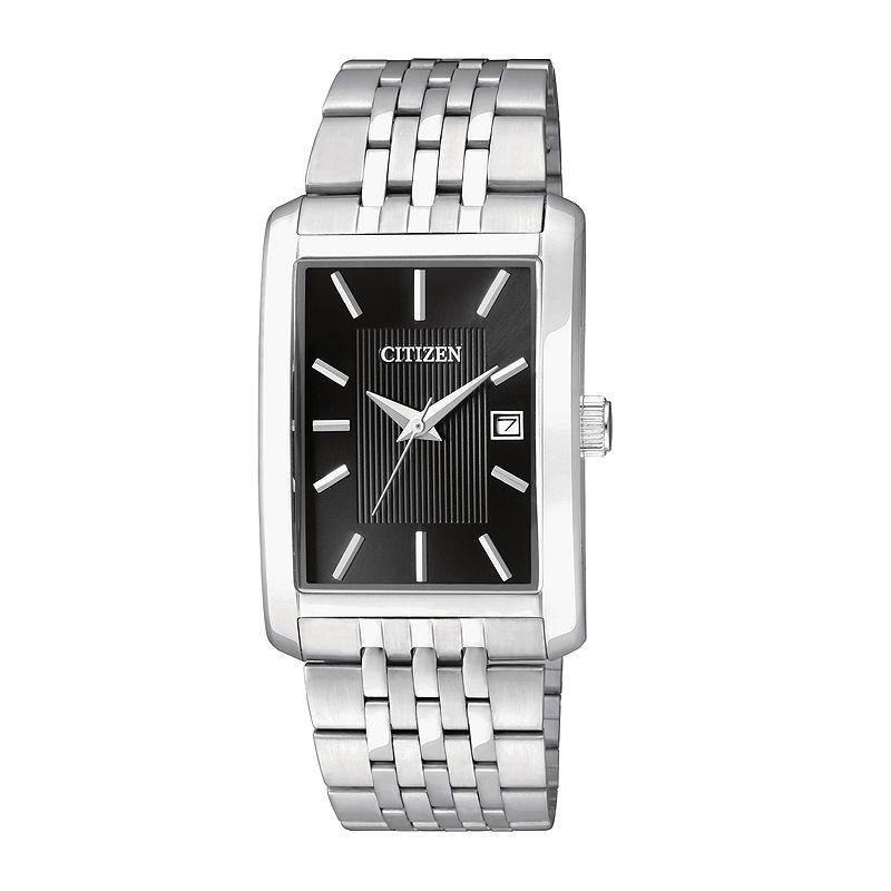 Citizen Everyday Mens Rectangular Stainless Steel Watch BH1671-55E