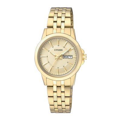 Citizen® Everyday Womens Gold-Tone Stainless Steel Bracelet Watch EQ0603-59P