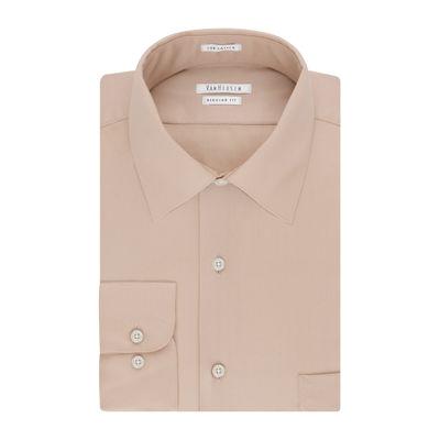 Van Heusen No-Iron Lux Sateen Long Sleeve Dobby Dress Shirt