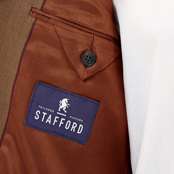 Stafford® Executive Tobacco Hopsack Blazer - Classic