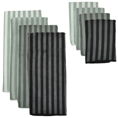 Design Imports Gray Stripe 8-pc. Microfiber Dish Towel Set