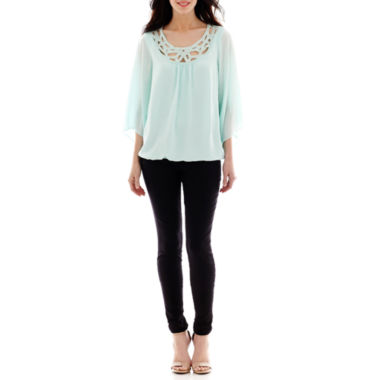 jcpenney.com | Alyx® Crochet-Trim Bubble Top or Slim-Leg Pull-On Pants