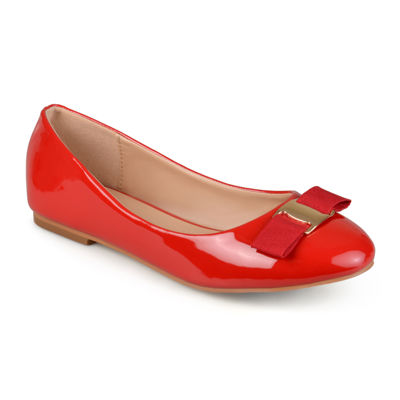 Journee Collection Kim Women's ... Glossy Ballet Flats
