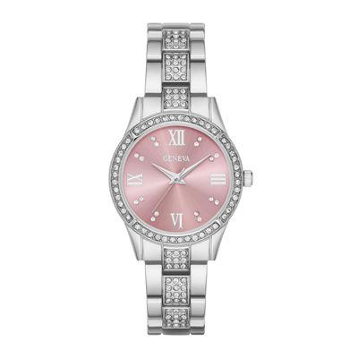 Geneva Womens Pink Dial Watch