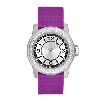 Womens Purple Strap Watch