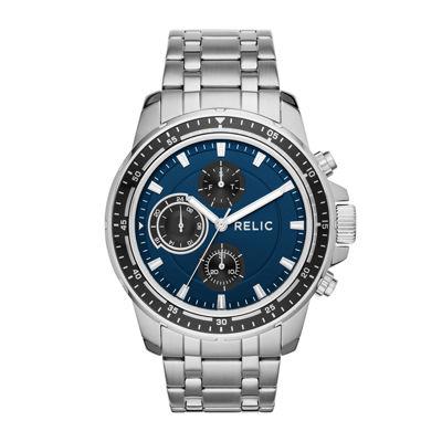 Relic By Fossil Heath Mens Silver Tone Bracelet Watch-Zr15835