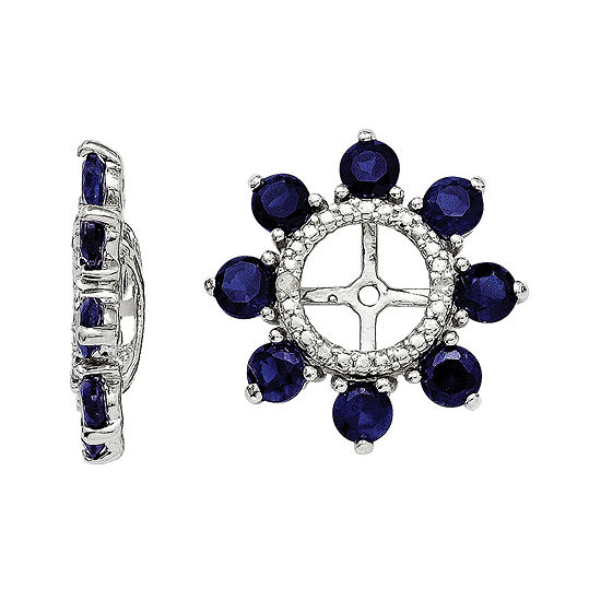 Lab Created Sapphire And Diamond Accent Earring Jackets