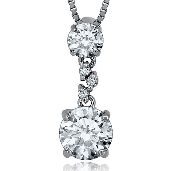 Lab-Created White Sapphire Sterling Silver Necklace