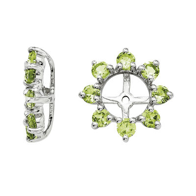 Genuine Peridot Sterling Silver Earring Jackets